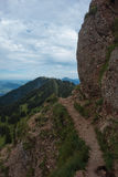 Hiking on the Nagelfluhkette in the German alps. On a sunday afternoon Stock Photo