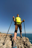 Hiking in the national park along the sea. Stock Photography