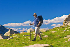 Hiking in national park Pirin Stock Photo