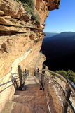 Hiking the National Pass trail Blue Mountains Stock Photo
