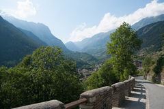 Hiking in natural park in Italy Royalty Free Stock Photo