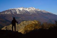 Hiking in the Natural Park Sierra de Aizkorri. Royalty Free Stock Images