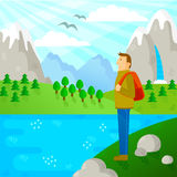 Hiking in nature Royalty Free Stock Photography