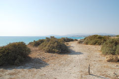Hiking in a nature reserve of WWF. Off-road hiking in a nature reserve of WWF located in Sicily Stock Image
