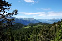 Hiking near Achard lake, Alps, France Royalty Free Stock Image