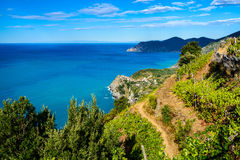 Hiking near Corniglia, Cinque Terre Royalty Free Stock Image
