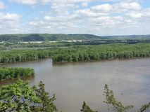 Mississippi river. Hiking near mississippi river on iowa side royalty free stock photography