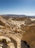 Hiking in Negev desert of Israel royalty free stock images
