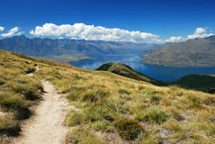 Hiking in New Zealand Stock Image