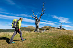Hiking in New Zealand stock photography
