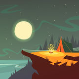 Hiking At Night Background Royalty Free Stock Photos