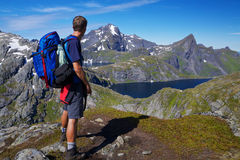 Hiking in Norway Stock Photo