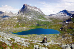 Hiking Norway Royalty Free Stock Photo