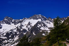 Hiking in the Oetztal Alps in Italy Royalty Free Stock Photo