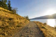Hiking by Okanagan lake Royalty Free Stock Photo