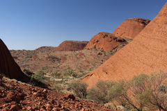 Hiking The Olgas Royalty Free Stock Photography