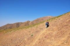 Free Hiking On A Ridge In Alborz Mountains , Iran Royalty Free Stock Photos - 160709138