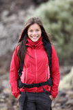 hiking outdoors женщина портрета Стоковая Фотография RF
