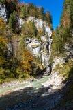 Hiking the Partnach Gorge in Garmisch-Partenkirchen, Bavaria, Germany royalty free stock photography