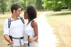 Hiking with a partner Royalty Free Stock Photography