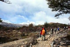 Hiking patagonia Stock Images