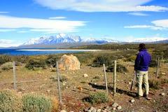 Hiking Patagonia Stock Photo