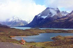 Hiking Patagonia Royalty Free Stock Photography