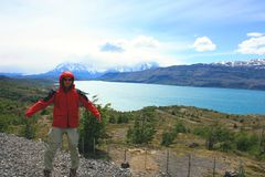 Hiking patagonia Stock Photography
