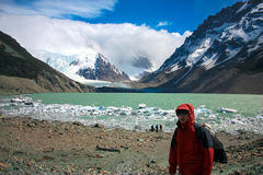Hiking Patagonia Stock Photo