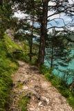 Hiking path. Achensee, Austria Stock Photos
