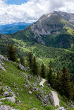 Hiking path in Alps Stock Photos