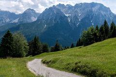 Hiking path in Alps. Bavaria Stock Photo