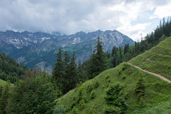 Hiking path in Alps Royalty Free Stock Photography