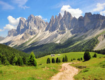 Hiking path in Alps Stock Photo