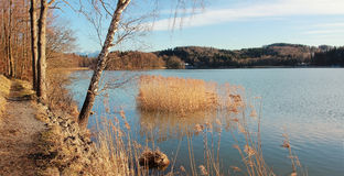 Hiking path around seehamer see, bavaria Stock Images