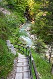 Hiking path in the Austrian Alps Royalty Free Stock Image