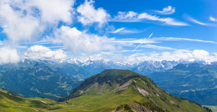 On the hiking path on Bernese Oberland Stock Photos
