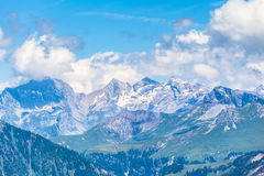 On the hiking path on Bernese Oberland Stock Images