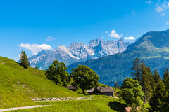 On the hiking path on Bernese Oberland Royalty Free Stock Images