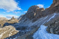 Hiking path in the dolomites Royalty Free Stock Photography