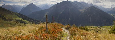 Hiking path in Fall Stock Photo
