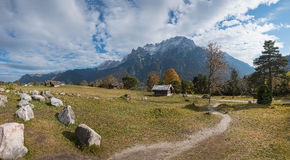 Hiking Path From Mittenwald To Kranzberg With Beautiful Lookout Stock Image