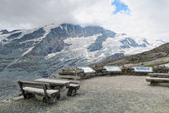 Hiking path at Grossglockner Mountain and Pasterze in Austria. S Stock Image