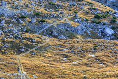 Hiking path in the mountain Stock Photos