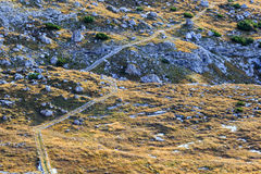 Hiking path in the mountains Royalty Free Stock Images