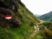 Hiking path in the Mountains Stock Photos