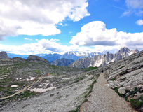 Hiking path in mountains Royalty Free Stock Photography