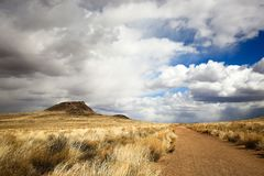 Hiking Path in New Mexico. Hiking path to dormant volcano in Petroglyphs National Monument, New Mexico royalty free stock images