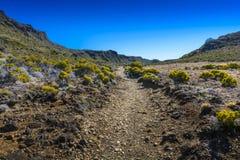 Hiking path, Piton de La Fournaise, Reunion Island. Hiking path, Piton de La Fournaise at Reunion Island Royalty Free Stock Photo