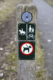 Hiking Path Signs Royalty Free Stock Photo